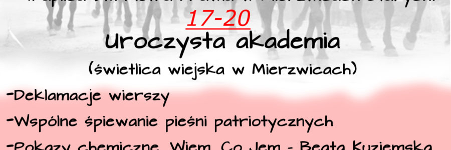 """ZAPROSZENIE """"11 listopada – 99lat i co dalej…?"""""""